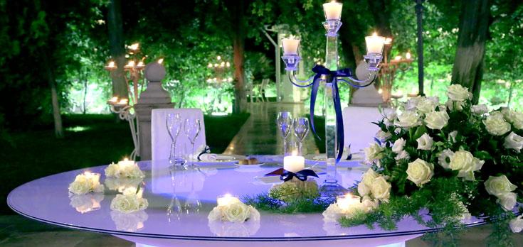 Fiori e addobbi per il matrimonio nella sala ricevimenti villa ciardi - Addobbi sala matrimonio ...